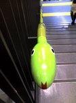 か、階段に、ヘ、ヘビがぁ〜!(笑)